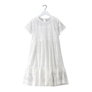 Image 1 - 8 16 세 십대 소녀 여름 흰 레이스 긴 드레스 우아한 공주 가운 2018 새로운 파티 옷 아이 드레스 큰 여자