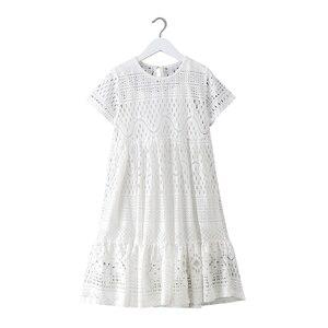 Image 1 - 8 16 yrs נערות קיץ לבן תחרה ארוך שמלה אלגנטית נסיכת שמלת 2018 חדש מסיבת בגדי ילדים שמלות עבור גדול בנות