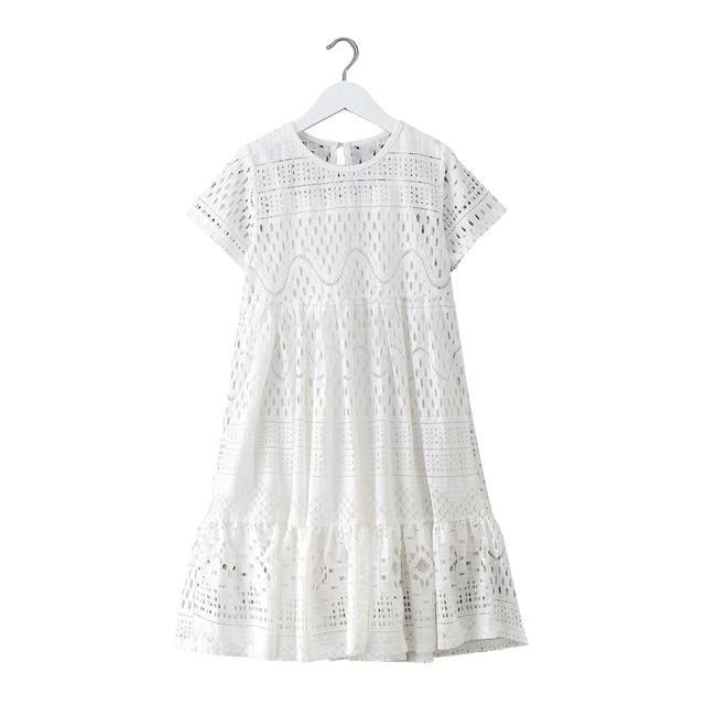 8 16 yrs נערות קיץ לבן תחרה ארוך שמלה אלגנטית נסיכת שמלת 2018 חדש מסיבת בגדי ילדים שמלות עבור גדול בנות