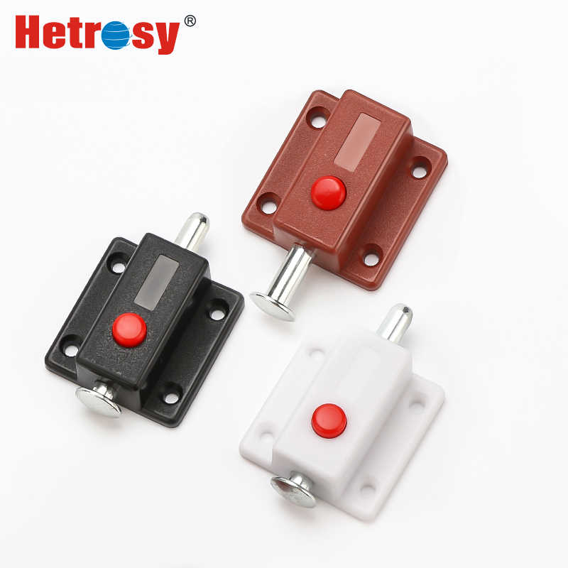 Hetrosy Hardware Automatic Furniture Bolt Door Cabinet Box Latch Spring Lock Catch Window Hardware Latches