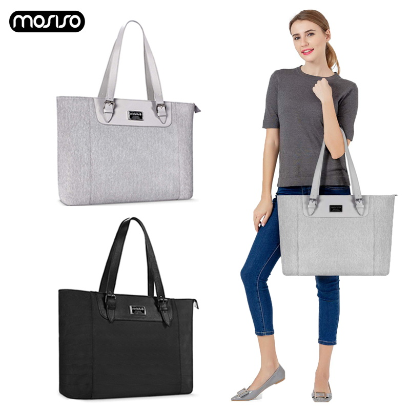 MOSISO Large Capacity Laptop Bag For Women Waterproof Notebook Tote Bag Up to 17 3 Inch Computer Business Handbag Briefcase Bags in Laptop Bags Cases from Computer Office