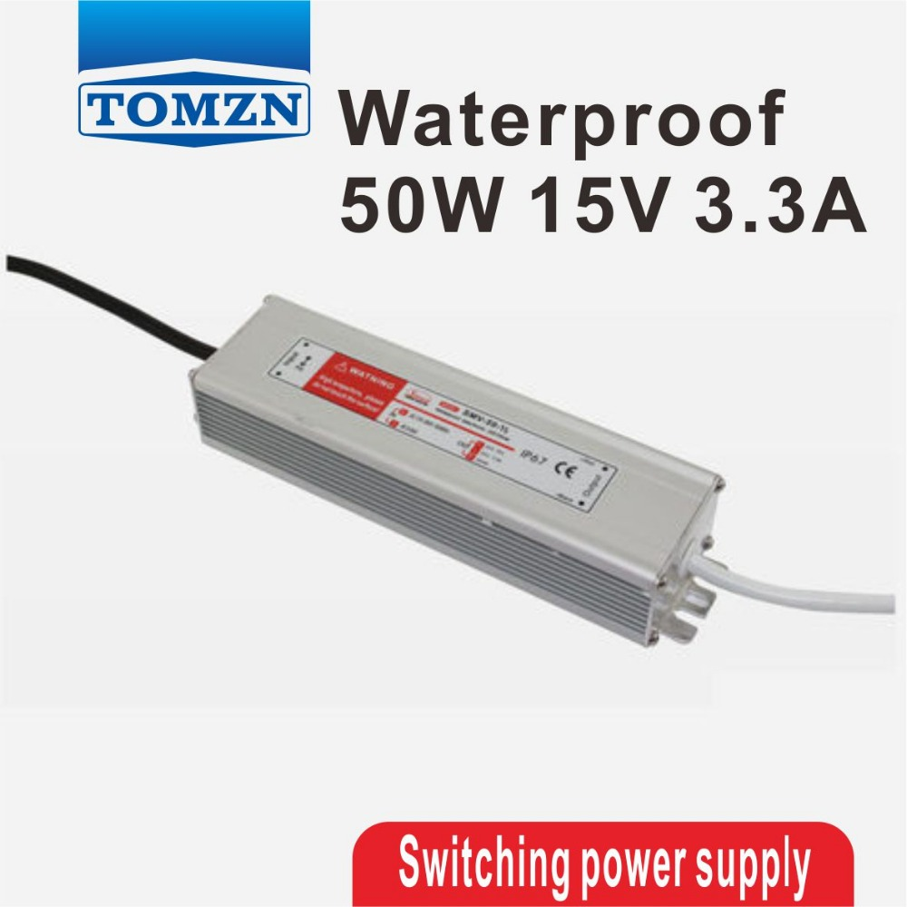50W 15V 3.3A Waterproof outdoor Single Output Switching power supply AC TO DC SMPS