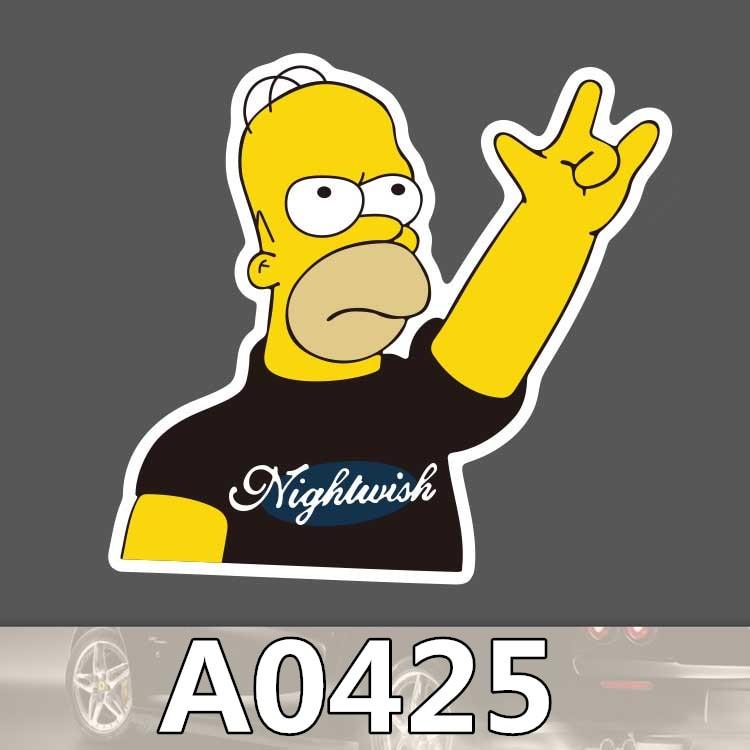 Bevle A0425 Homer Cartoon Car Styling Waterproof Sticker For Cars Laptop Luggage Skateboard Graffiti Notebook Stickers