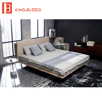 1.8m bed leather material for bedroom set designs