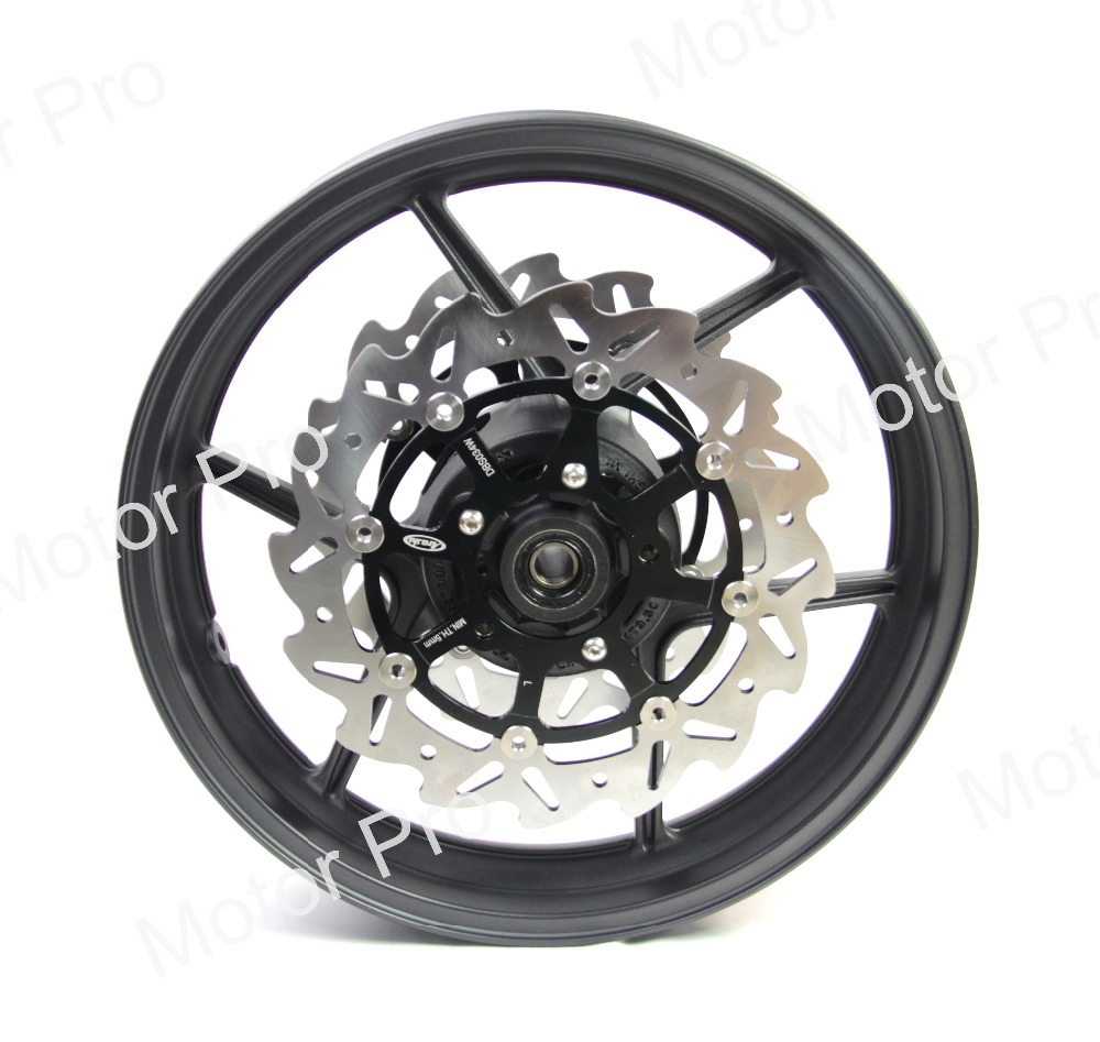 on sale detailed images first rate US $410.05 19% OFF For KAWASAKI Z750 2009 2012 Z 750 Front Wheel Rim Brake  Disc Disk Rotor Motorcycle Accessoires CNC Aluminum 2010 2011 10 11 12-in  ...