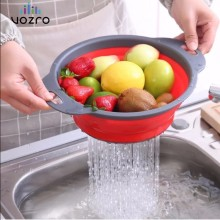 VOZRO 2PC Size Fruit Vegetable Cleaning Basket Water Fold Gadgets Kichen Accessories Cuisine Cucina Avocado Kitchen Accessori