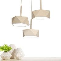 Скандинавские современные в виде геометрических фигур светодиодные потолочные светильники лампы веревка Лофт деко творческий plafondlamp luminaria