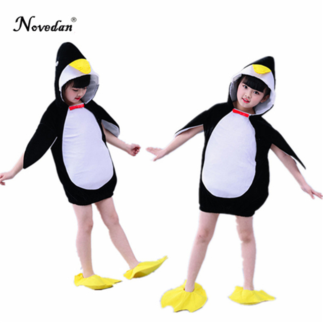 7a68088e42a9 2018 Halloween Penguin Costume Baby Girls Kids Animal Jumpsuit Carnival  Party Cosplay Performance Fancy Dress Child Costume