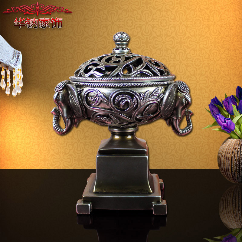 2016 Direct Selling Southeast Asian Style Resin Craft Ornaments Elephant Jewelry Box Home Furnishing Living Room Decoration