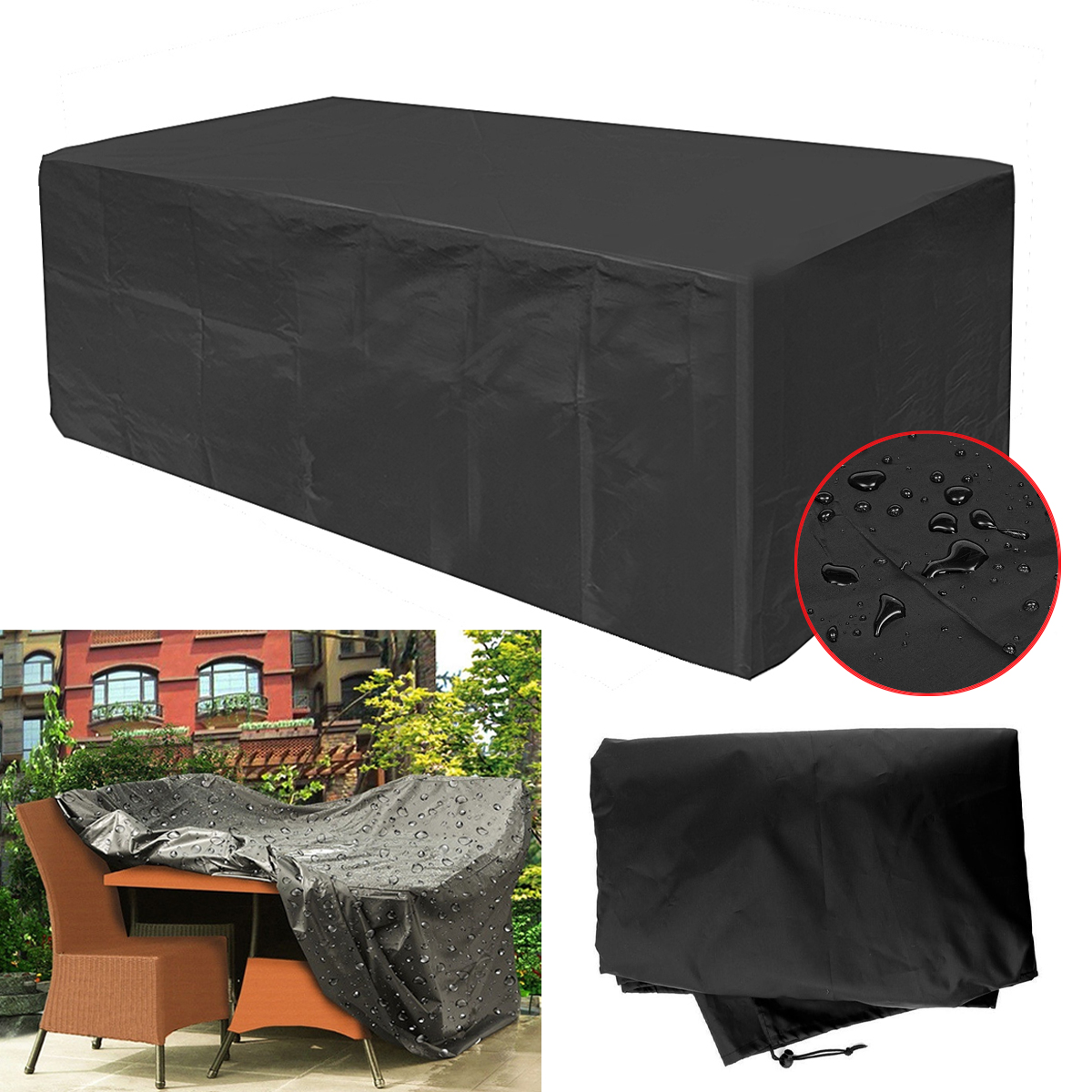 Groovy Us 29 29 42 Off Waterproof Oxford Garden Ratten Furniture Cover Extra Large Outdoor Patio Table Sofa Set Rain Snow Protection Dustproof Covers In Machost Co Dining Chair Design Ideas Machostcouk