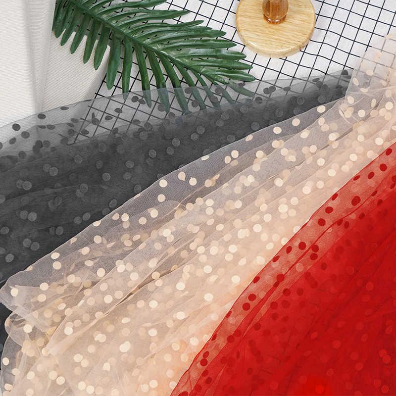 Nähen stoff TUTU dot punkt netz gewebe Strömten mesh stoff tüll rock mesh stoff für frau bluse und kleid 0,5 yds/pc TJ2103