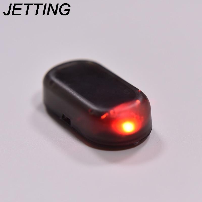 JETTING 1PC Car Led Light Security System Warning Theft Flash Blinking Fake Solar Car Alarm LED Light Red Blue
