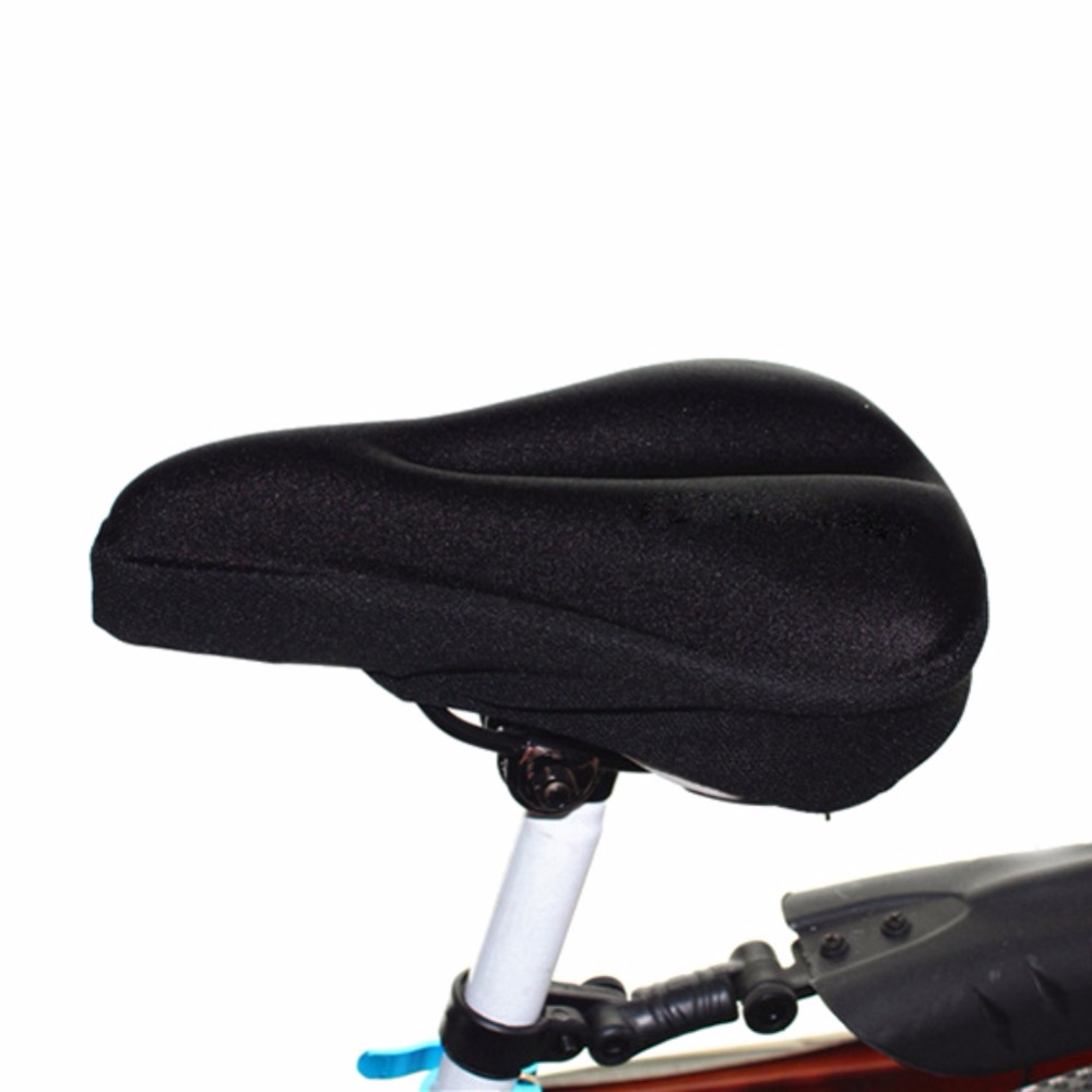 New Silicone Gel Soft Bicycle Bike Bicycle Cycling Saddle Seat Cover Cushion Pad