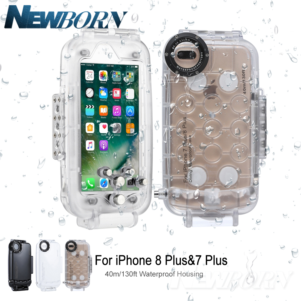 promo code fabae aa0b0 US $49.99 |For iPhone 8 Plus Case 40m/130ft Underwater Camera Housing Photo  Taking Waterproof Diving Case Cover for Apple iPhone 7 plus-in Photo ...