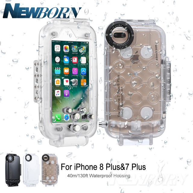 promo code ce875 5d612 US $49.99  For iPhone 8 Plus Case 40m/130ft Underwater Camera Housing Photo  Taking Waterproof Diving Case Cover for Apple iPhone 7 plus-in Photo ...