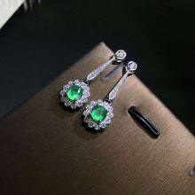 Женские серьги гвоздики из серебра 925 пробы 4 Х5 мм
