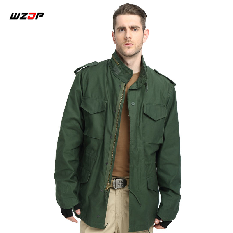 WZJP M65 Military Camouflage Male clothing US Army Tactical Men s Windbreaker Jacket Outwear Camping Hiking