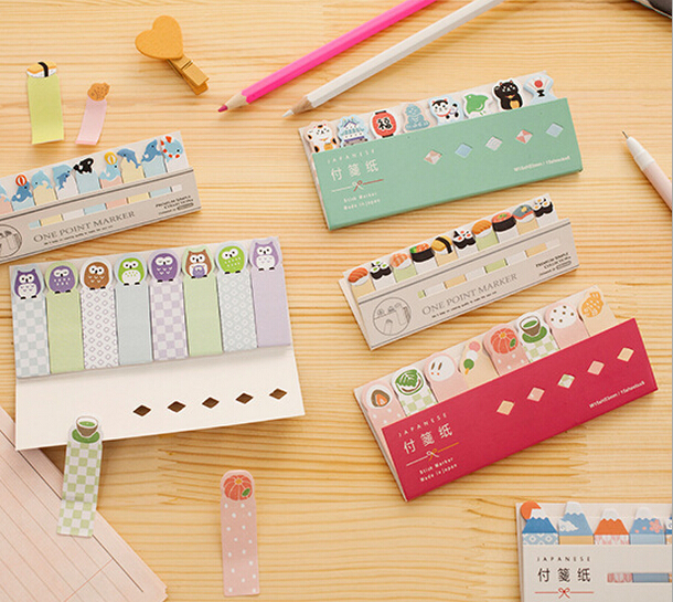 1pcs Stationery Store Mini Memo Pads Kawaii Finger Sticky Notes DIY Post It School Office Supplies Korean Cute Stickers