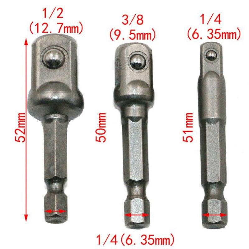 8 PCS Hex Shank Drive Power Drill Socket Extension Bit Adaptor Set Kits NEW