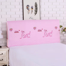 Modern Bed Headboard Cover Embroidery Lace Elastic Bed Headboard Protective Dust Cover with Storage Bag for Phone Remote Control(China)