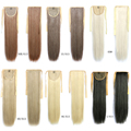 1pcs high quality Hot Style Blonde 60cm Long Straight Ponytail 90g Fake Hair Styling Clip Straight Ponytails Pony Tails