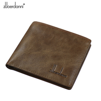 Brand Wallet Soft Genuine Leather Male Wallet Short Design First Layer Cowhide Purse Horizontal Vintage Men