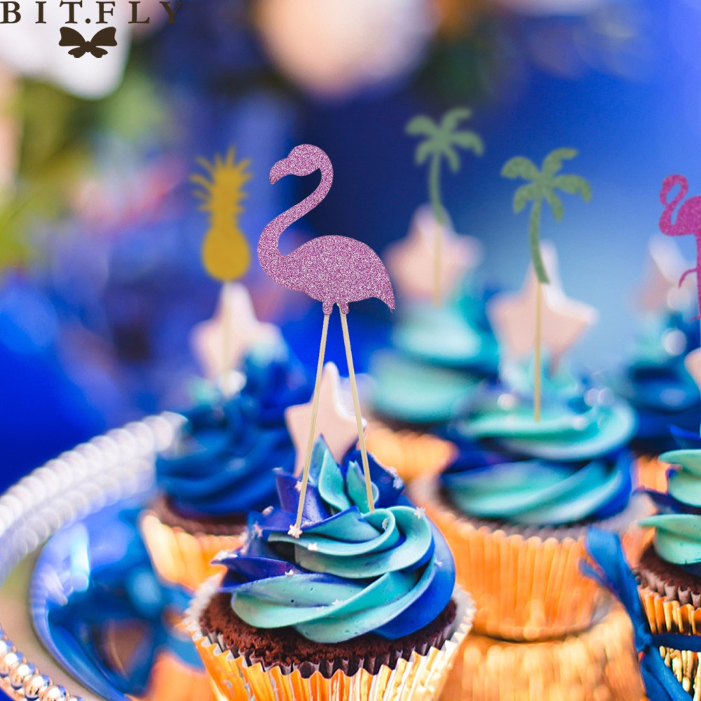 Miraculous Colorful Cake Topper Fire Bird Pineapple Coconut Tree Cupcake Birthday Cards Printable Nowaargucafe Filternl