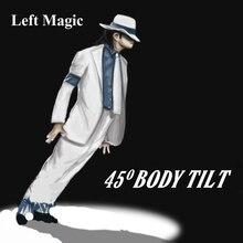 Corps inclinable 45, les tours de magie lean 1 uniquement des Gimmicks (préparez des chaussures par vous même), accessoires de magie sur scène pour magicien