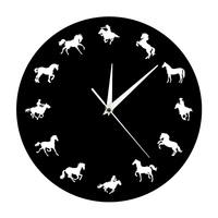Wild and Free Running Horse Animal Wall Decor   Clock   Cowboy Horserider Decorative Wall   Clock   Minimalist Design Horse Wall Watch