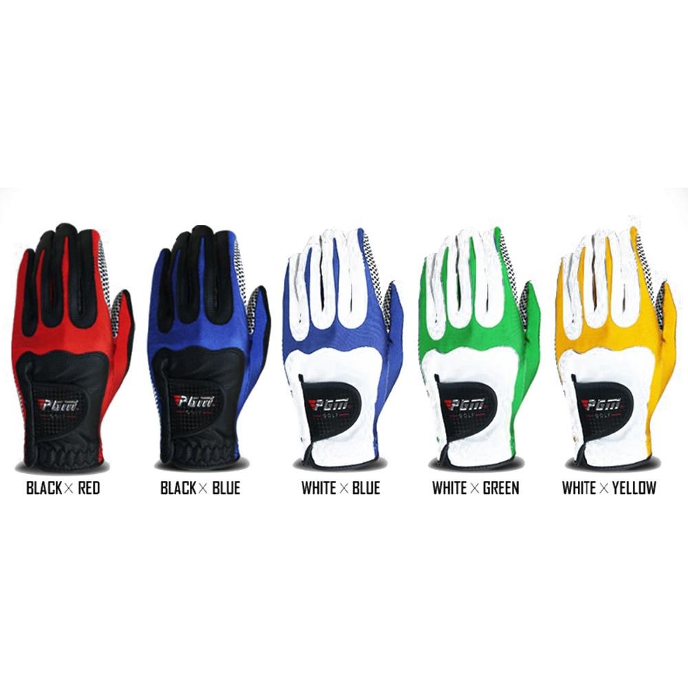 PGM 1PCS Mens Golf Glove for left hand Anti-slip Granules Granules Mitten Soft Breathable Training Soft Fiber cloth Golf Gloves