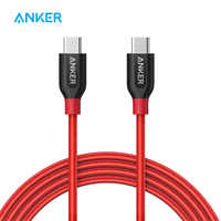 Câble Anker Powerline + C à C 2.0 haute durabilité, pour appareils USB type-c, MacBook, Matebook, iPad Pro 2018, Galaxy, Pixel, Nexus, etc.