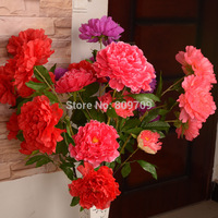 6PCS Artificial Silk 118cm 46 5 Heads Of Rich Peony Flower Bouquet Wedding Home Garden Party