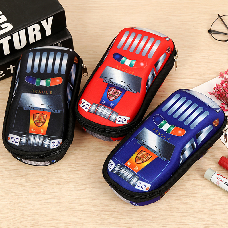 Car Pencil Case Kawaii Cartoon Model Stationery For Boys Kids Pen Box Bag School Multifunction Children Stationery Supplies Gift