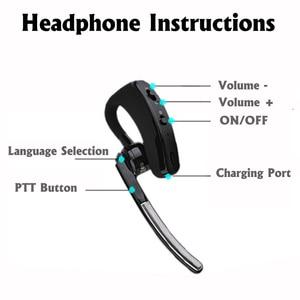 Image 4 - ミニトランシーバーハンドヘルド Bluetooth ヘッドセットワイヤレスイヤホン小型双方向ラジオワイヤレスヘッドフォン Buletooth イヤホン
