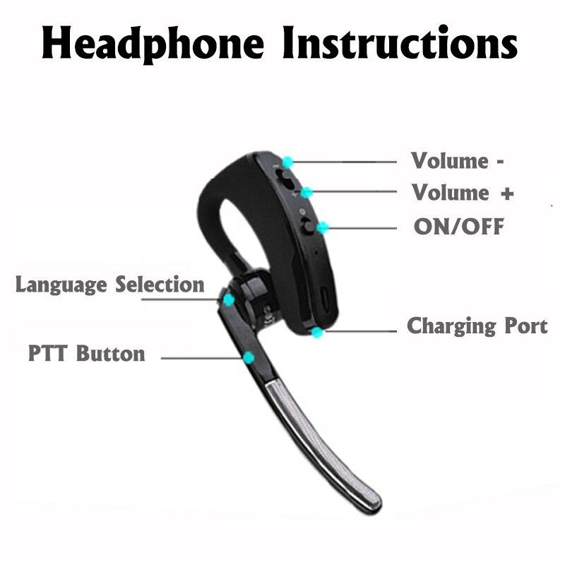 Image 4 - MINI Walkie Talkie Handheld Bluetooth Headset Wireless Earphone Small Size Two Way Radio Wireless Headphones Buletooth Earpiece-in Walkie Talkie from Cellphones & Telecommunications