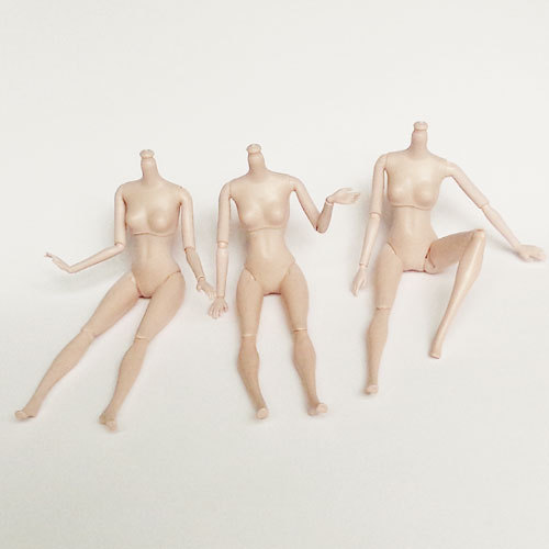 Doll Body 12 Moveable Joints Doll Without Head Accessory for Barbie Doll Girl Present Gift