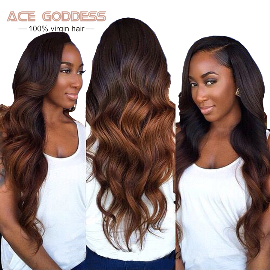 Brazilian Body Wave Ombre Brazilian Hair 1B/#33, 1B/#99J Ombre Human Hair 4pcs/lot Brazilian Hair Weave Bundles No Shedding