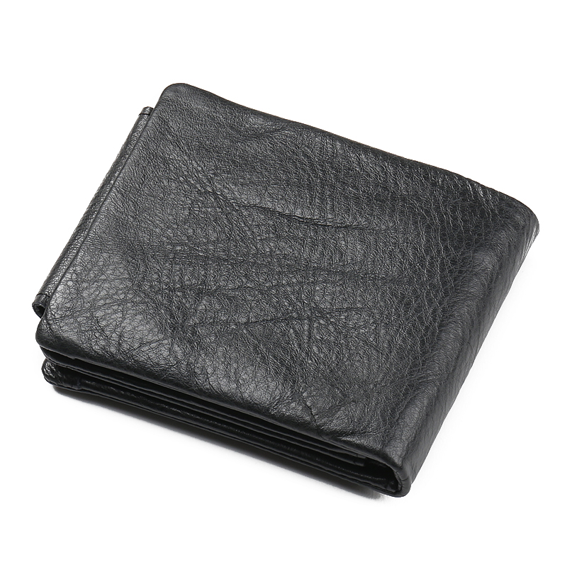 GUBINTU New Fashion Man Trifold Wallet Black Design Card Holder Zipper Wallet for Coin Pocket Famous Brand Men Wallets in Wallets from Luggage Bags