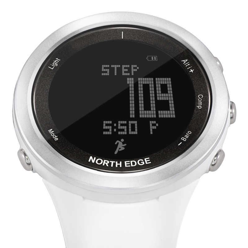 Северная режущая кромка женские спортивные часы альтиметр барометр термометр компас монитор сердечного ритма шагомер цифровые беговые часы для альпинизма