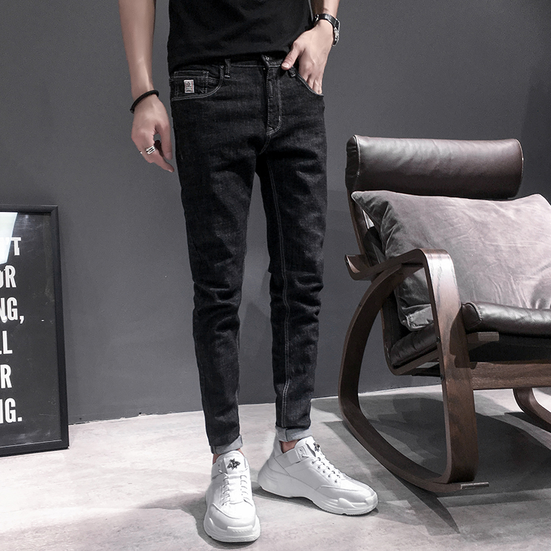 Quality Original Casual Jeans Men Retro Simple Denim Men Biker Jeans Slim Fit All Match Streetwear Men Black Jeans Denim Pants