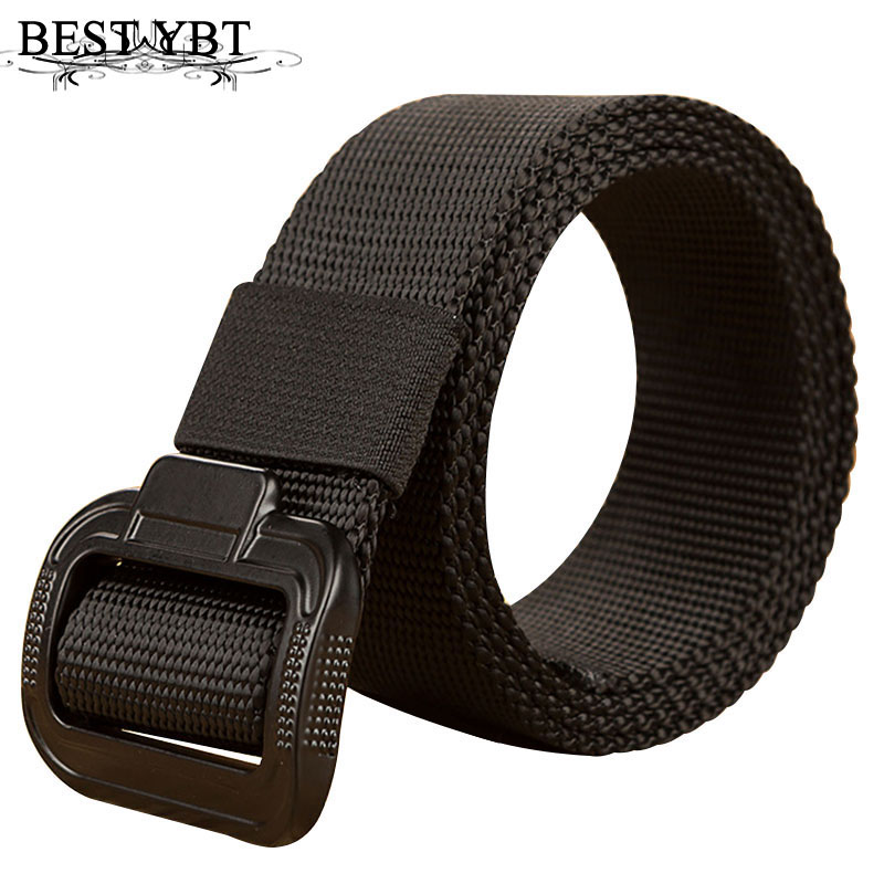 Best YBT Unisex Canvas Belt Alloy Smooth Buckle Belt Fashion High Quality Casual Simple Young Sport Men And Women Belt 115-135cm