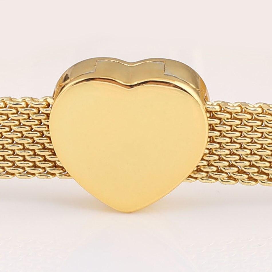 742bd5435ada Auténtica Plata de Ley 925 reflexiones corazón Clip Stopper Charms Fit  Pandora pulsera brazalete ...