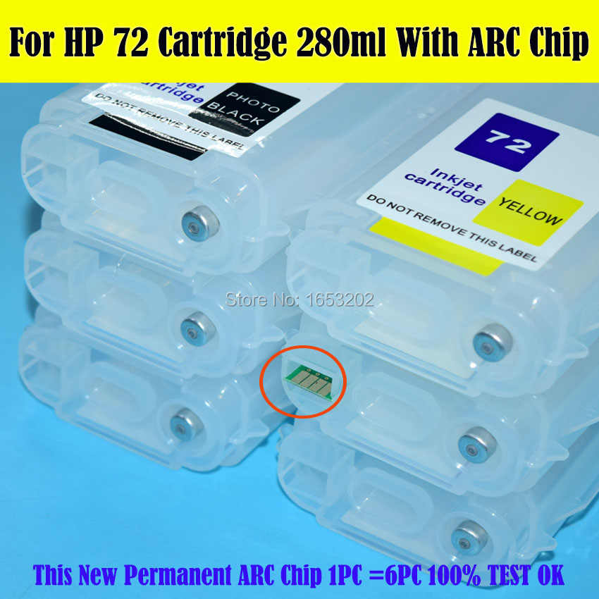 Plotter Refill Ink Cartridge With Arc Chip for HP Designjet T790 T790Ps T795 Plotter C9403A C9370A C9372A C9374A C9371A C9373A Printer Spare Parts