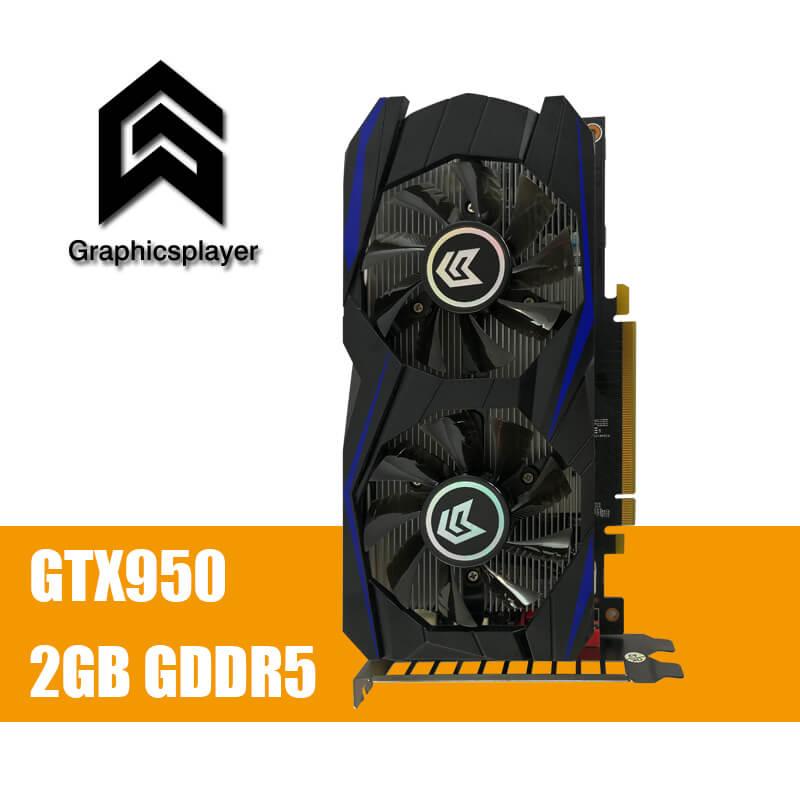 Carte graphique PCI-E GTX 950 2 GB DDR5 128Bit Placa de Vidéo carte graphique Carte Vidéo pour Nvidia