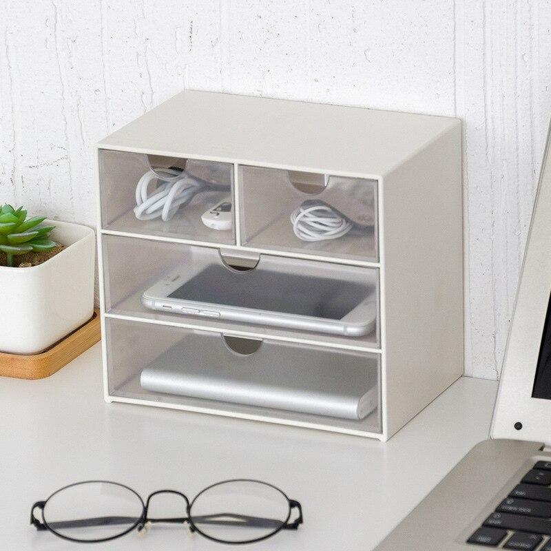 LASPERAL 4/9 Grids Sundries Storage Container Holder Drawer Multilayer Organizer Home Office Storage Box Transparent Drawer Type