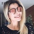 ZFYCOL 2017 Moda Óculos De Sol Das Mulheres Marca Designer original Do Vintage Rodada Óculos de Sol Para O Sexo Feminino/Masculino Homens Óculos De Motorista BO128