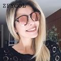 ZFYCOL 2017 Moda gafas de Sol de Mujer de Marca Diseñador original Vintage Ronda Gafas de Sol Para Mujeres/Hombres Vidrios Del Conductor de Los Hombres BO128