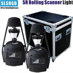 2 шт./лот & flightcase 5r сканера ролика/5r Скалки/5r луч сканирования света роликовый сканер 5r регулируемый луч эффект пламени света
