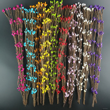 50/100PCS 40cm Artificial Stamen Berry Branches DIY Crafts Flower for Wedding Home Party Decoration Scrapbooking Wreath Flowers цена