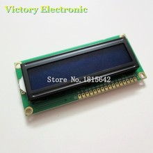 3.3V LCD1602 LCD monitor 1602 Blue Screen White Code Blacklight 16x2 Character LCD Display Module HD44780 1602A(China)